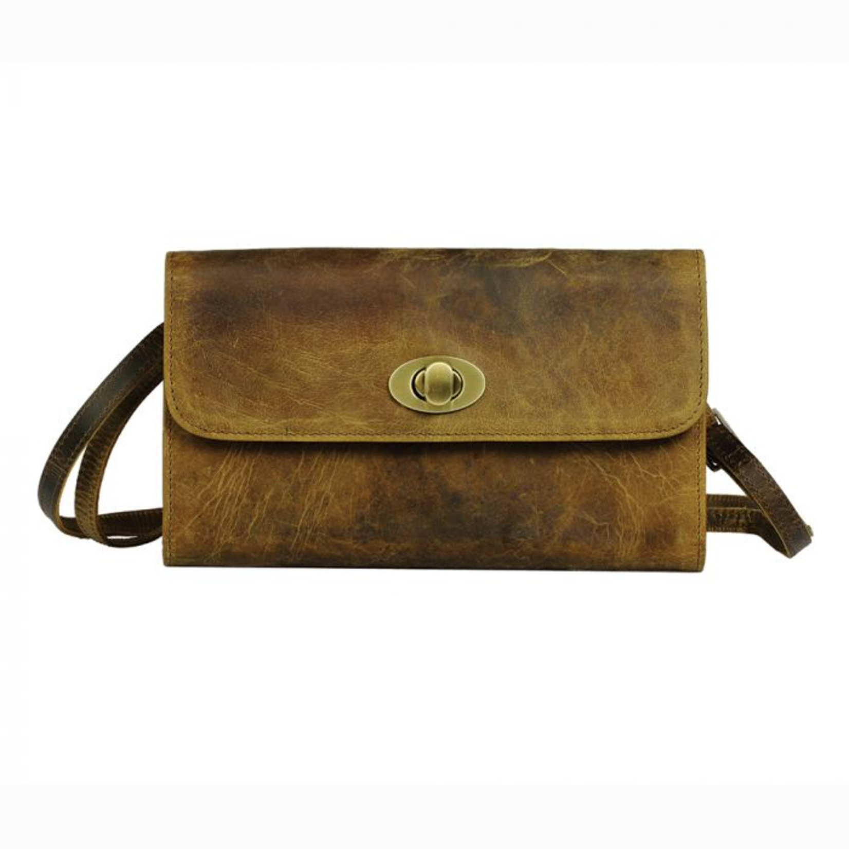 Myra Bag Wallet: Beige Matte