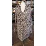 BomBom Long Sleeve: Animal Print Cashmere Hoodie