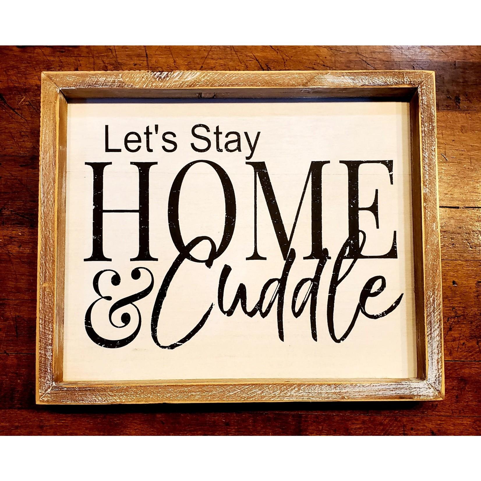 Adams & Co. Sign: Let's Cuddle