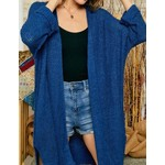 Adora Knitwear: Navy Open Cardigan