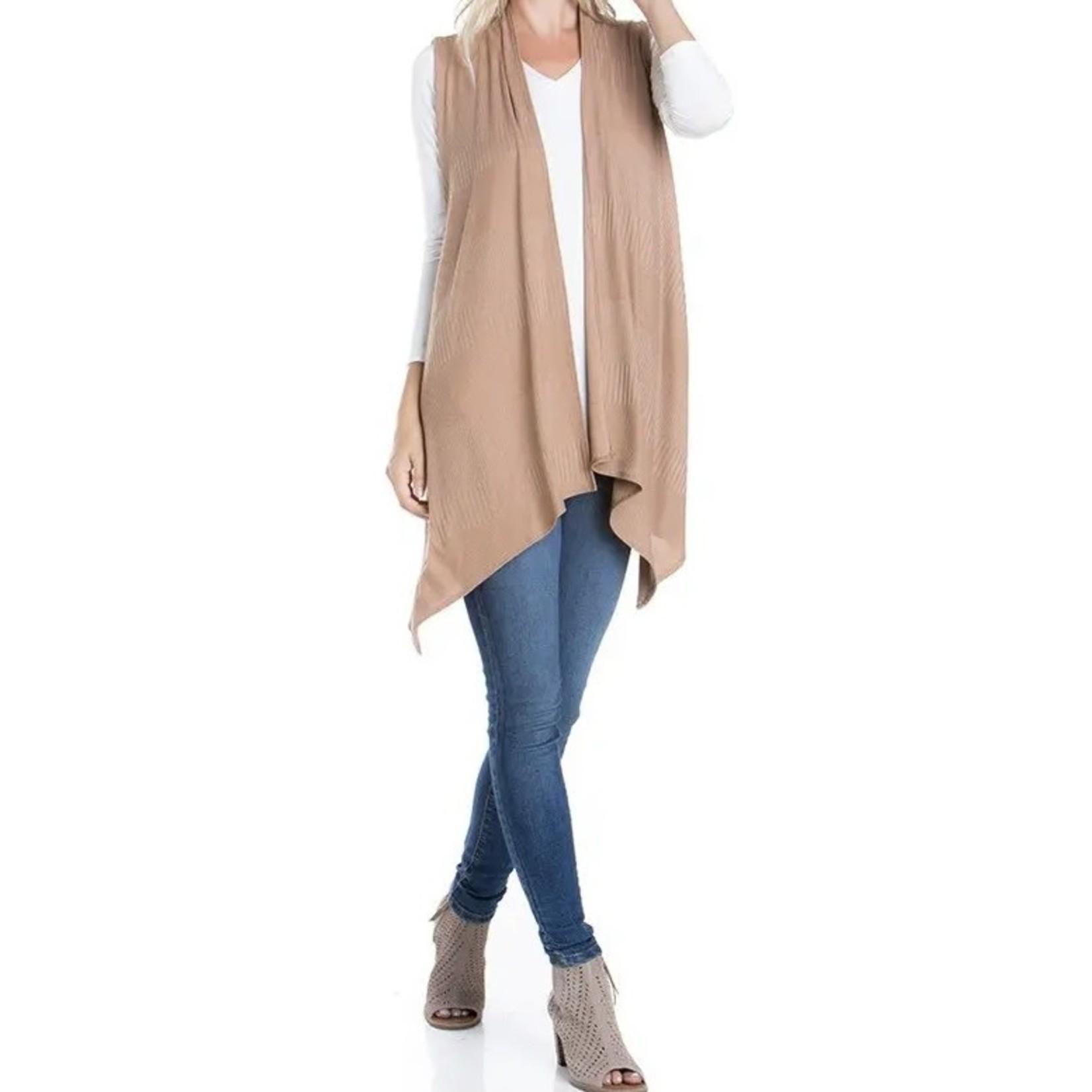 Azules Knitwear: Brushed Ribbed Sleeveless Vest