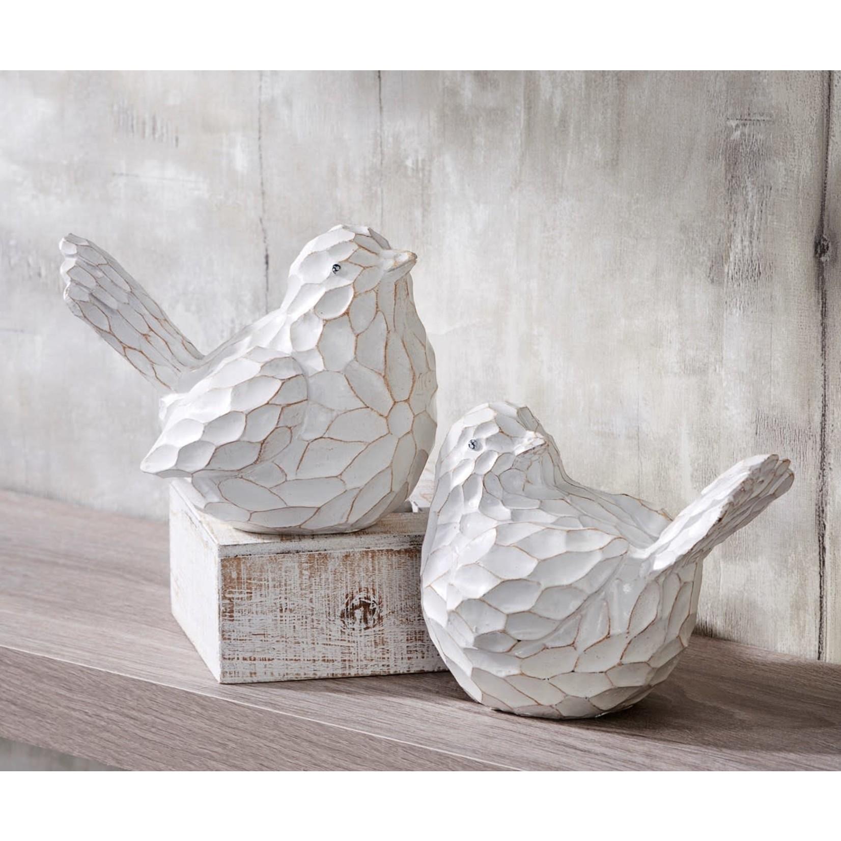 Giftcraft Inc. Decor: White Textured Bird Figure (asst.)