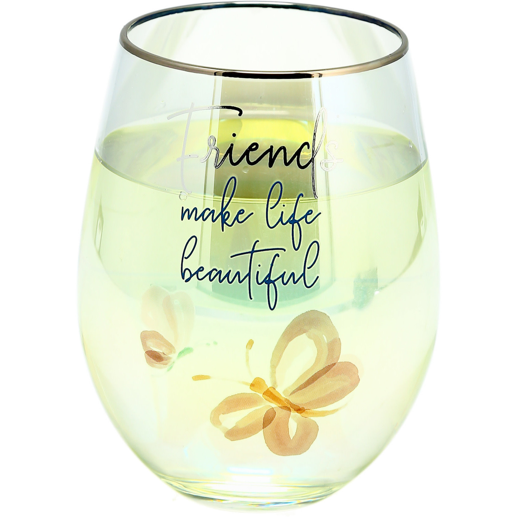 Pavilion Gift Co. Glass: Friends Stemless- 18oz.