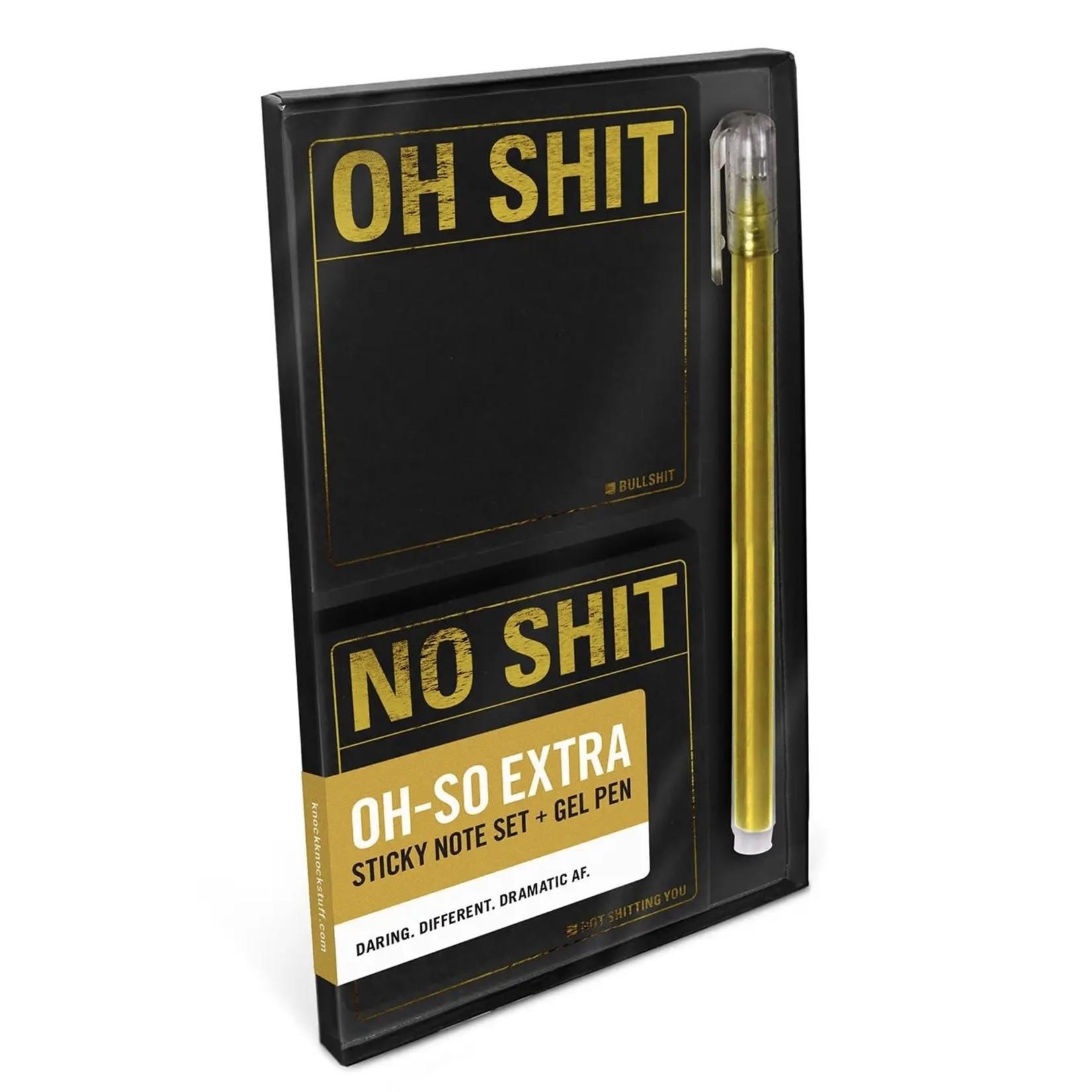 KNOCK KNOCK Snarky: Oh-So Extra Sticky Note Set
