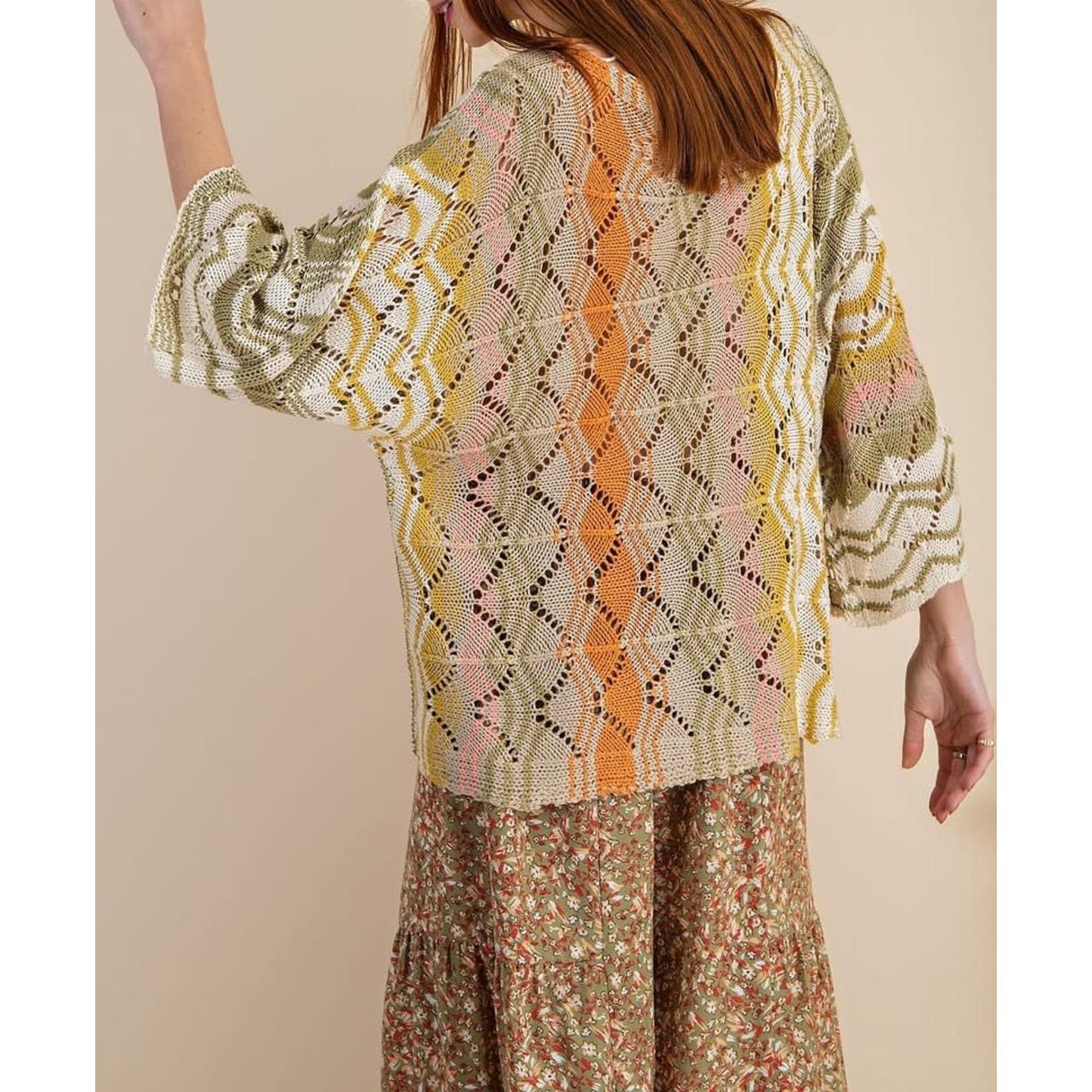 Easel Knitwear: MulticolorThread Mix Top