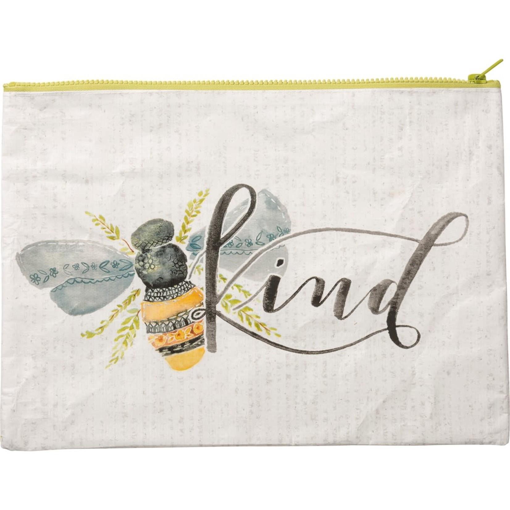 Primitives by Kathy Travel: Bee Kind Zipper Folder