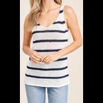Staccato Knitwear: V-Neck Tape Yarn Sweater Tank