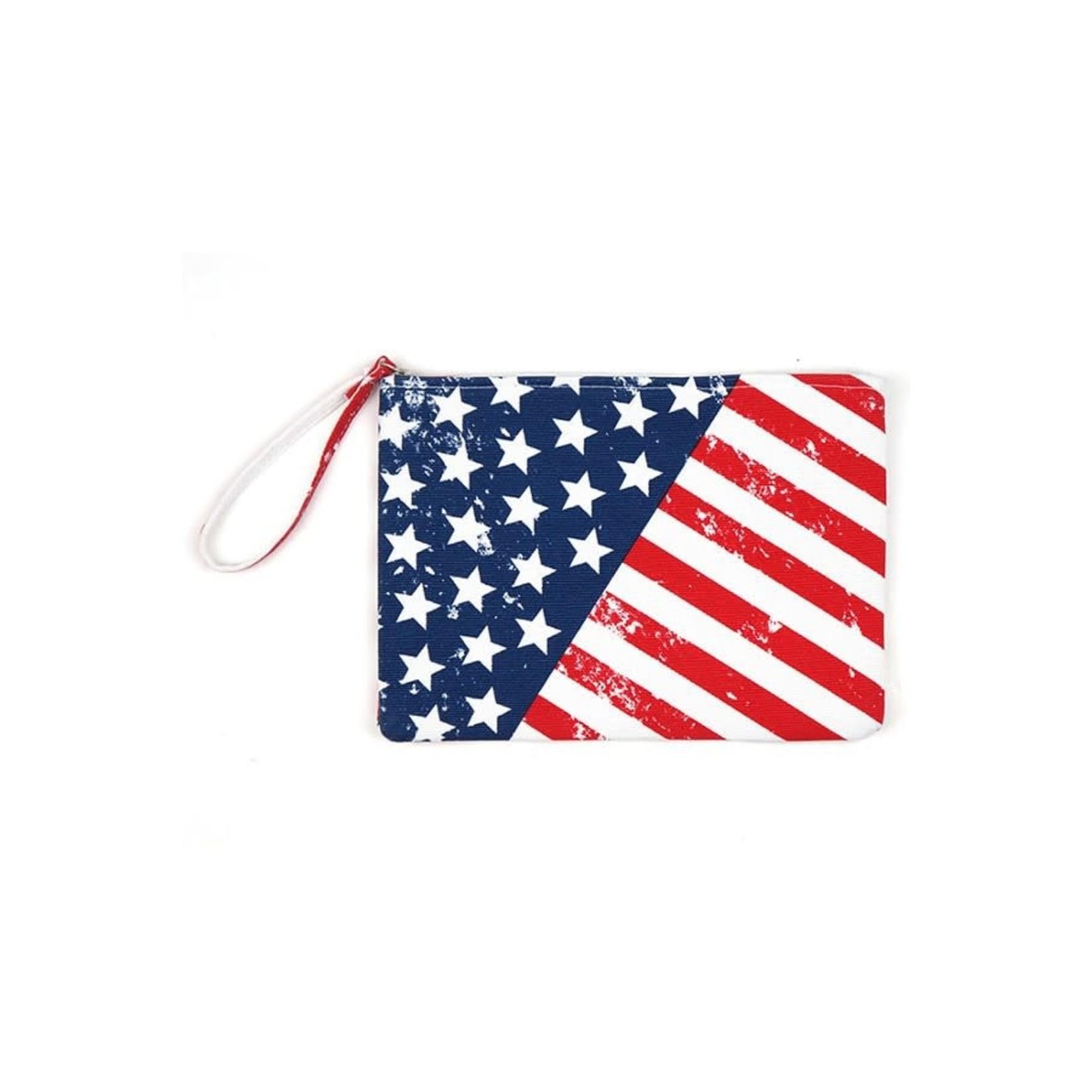 Hanna Hoisery Bag: Americana Zip Pouch