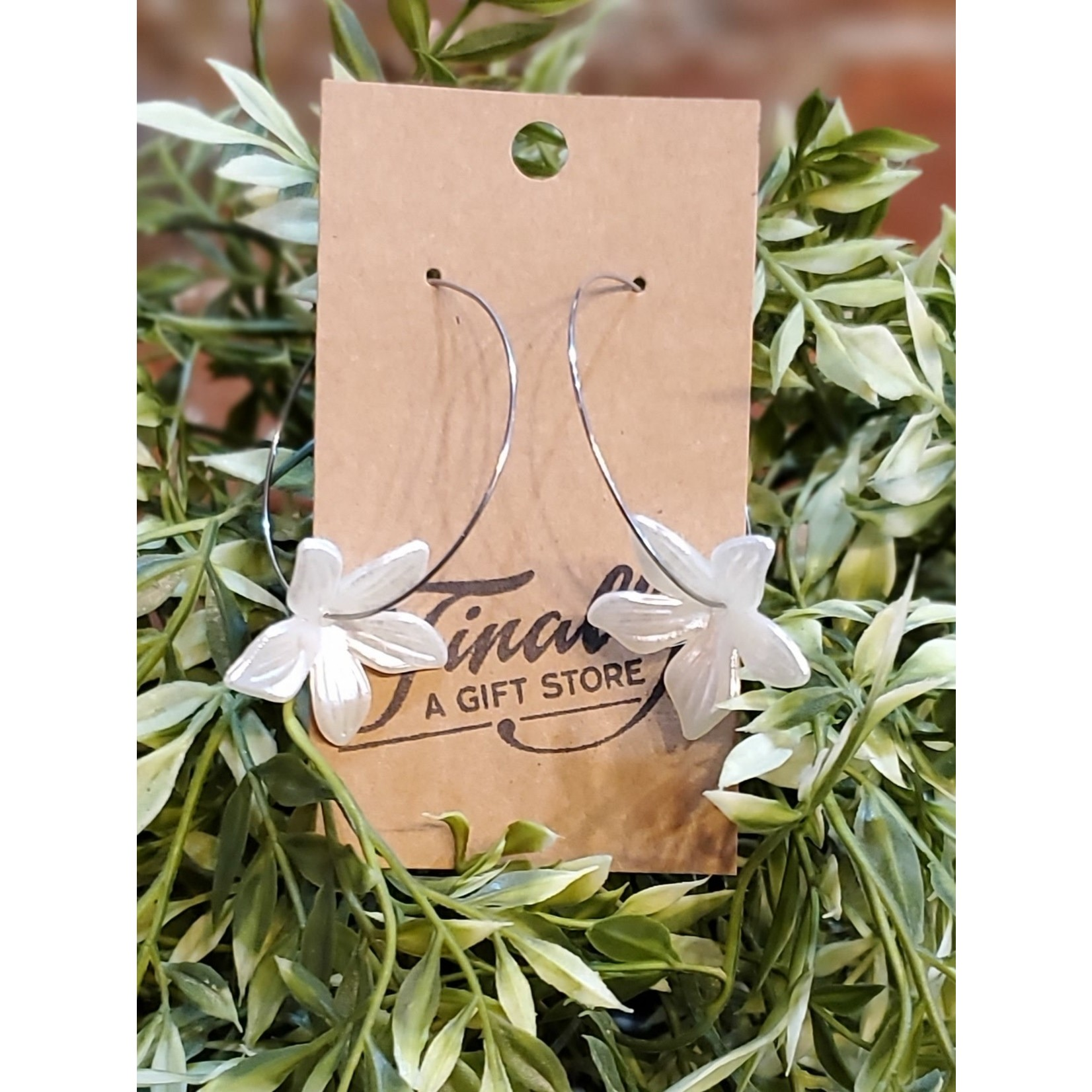 Baubles by B Earrings: Silver Blossom Hoop
