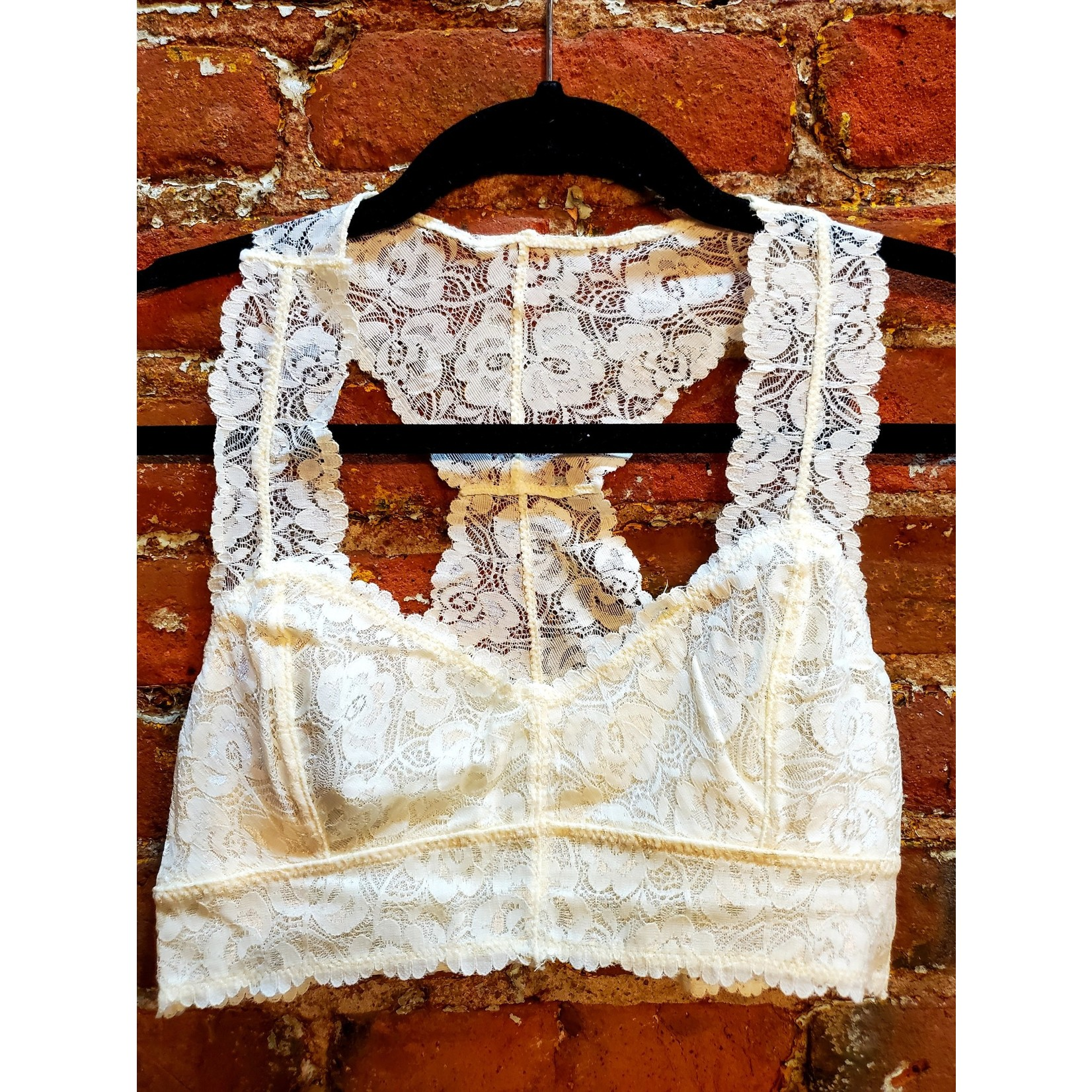 Anemone Bralette: Lacey Racer Back