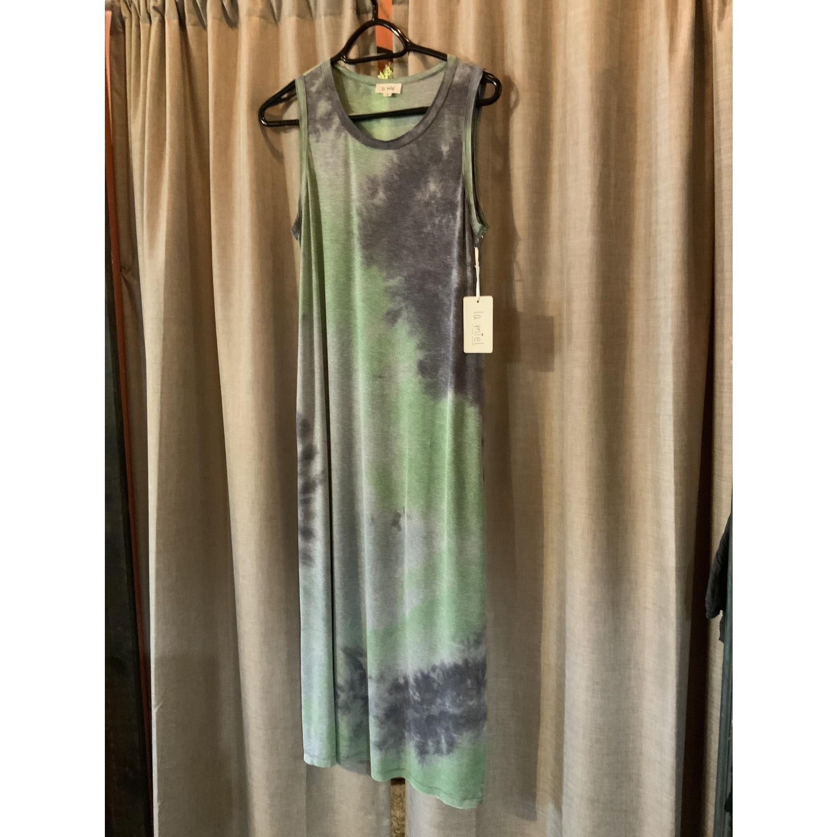LA Miel Dress: Joani Tye-dye Maxi