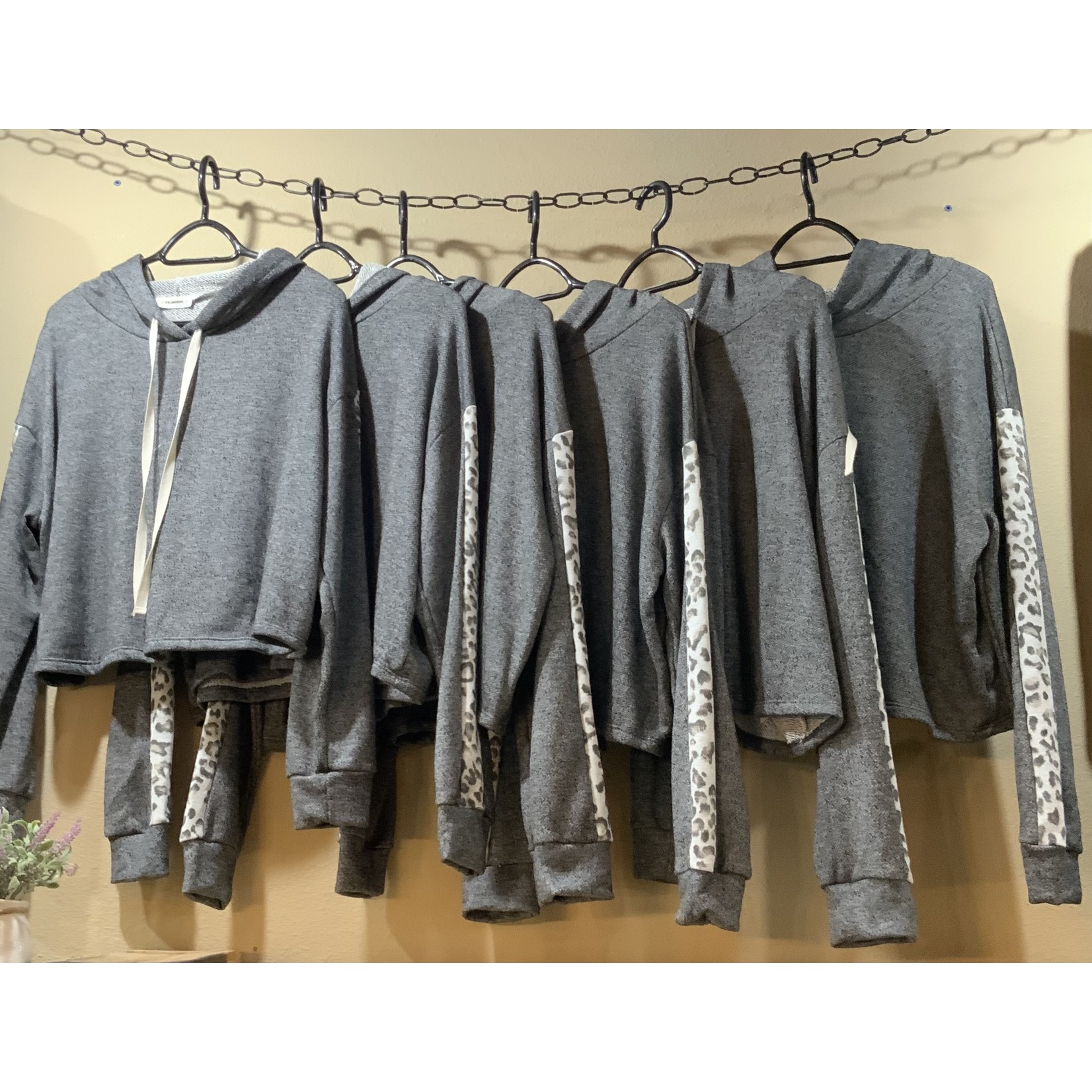 EE:Some Outerwear: Charcoal Cropped Hoodie