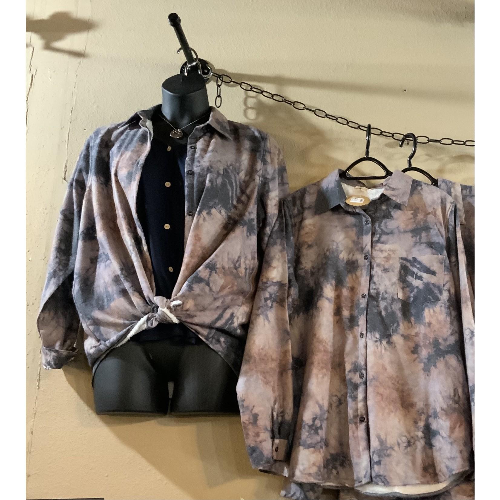 Clique 1 Co. PS: Tye-Dye Print Fleece Lined Jacket