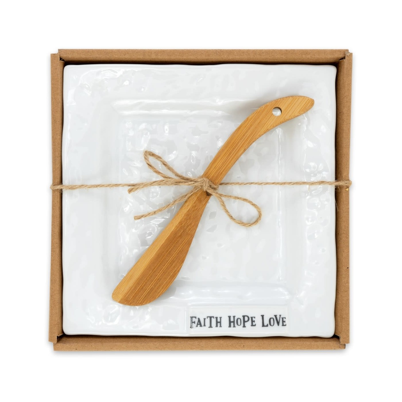 Brownlow Gifts Kitchen: Faith Hope Love Plate