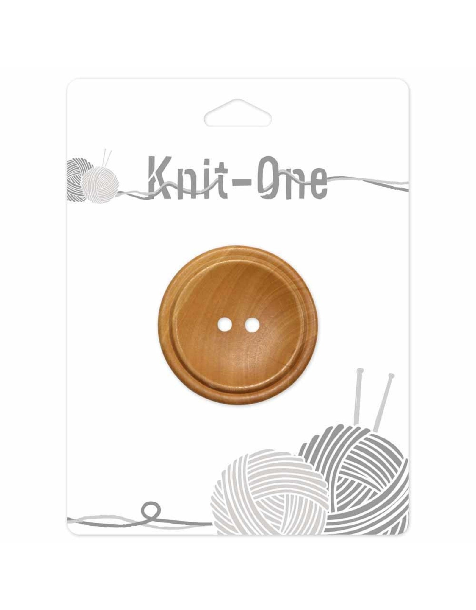 Knit One 1 Bouton x 2 trous 40mm - bois