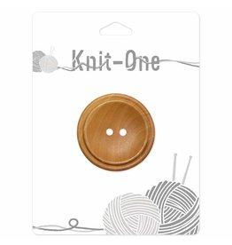 Knit One 1 Bouton x 2 trous 40mm - bois