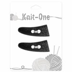 Knit One 2 Buttons toggle 54mm - noir