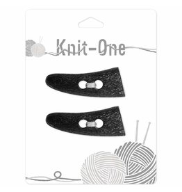 Knit One 2 x toggle 54mm - Black
