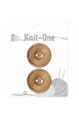 Knit One 2 boutons x 2 trous 35mm - bois