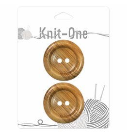 Knit One 2 boutons x 2 trous 38mm - Wood