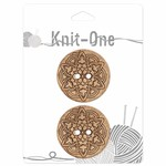 Knit One 2 boutons x 2 trous 38mm - Coconut mandala