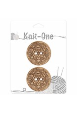 Knit One 2 boutons x 2 trous 38mm - Coconut mandala