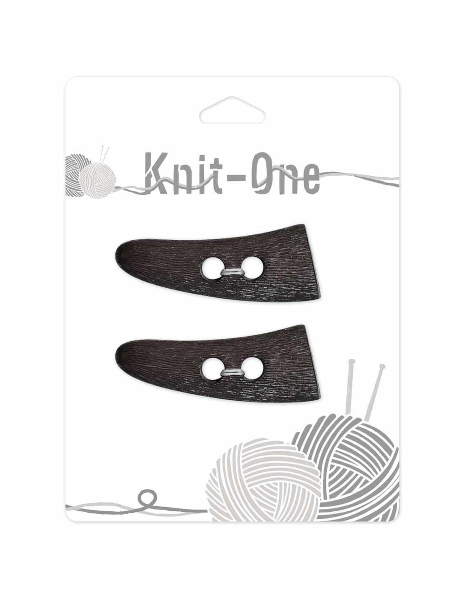 Knit One 2 boutons toggle 54mm - brun