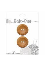 Knit One 2 Buttons x 2 holes 30mm - Wood