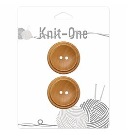 Knit One 2 boutons x 2 trous 30mm - bois