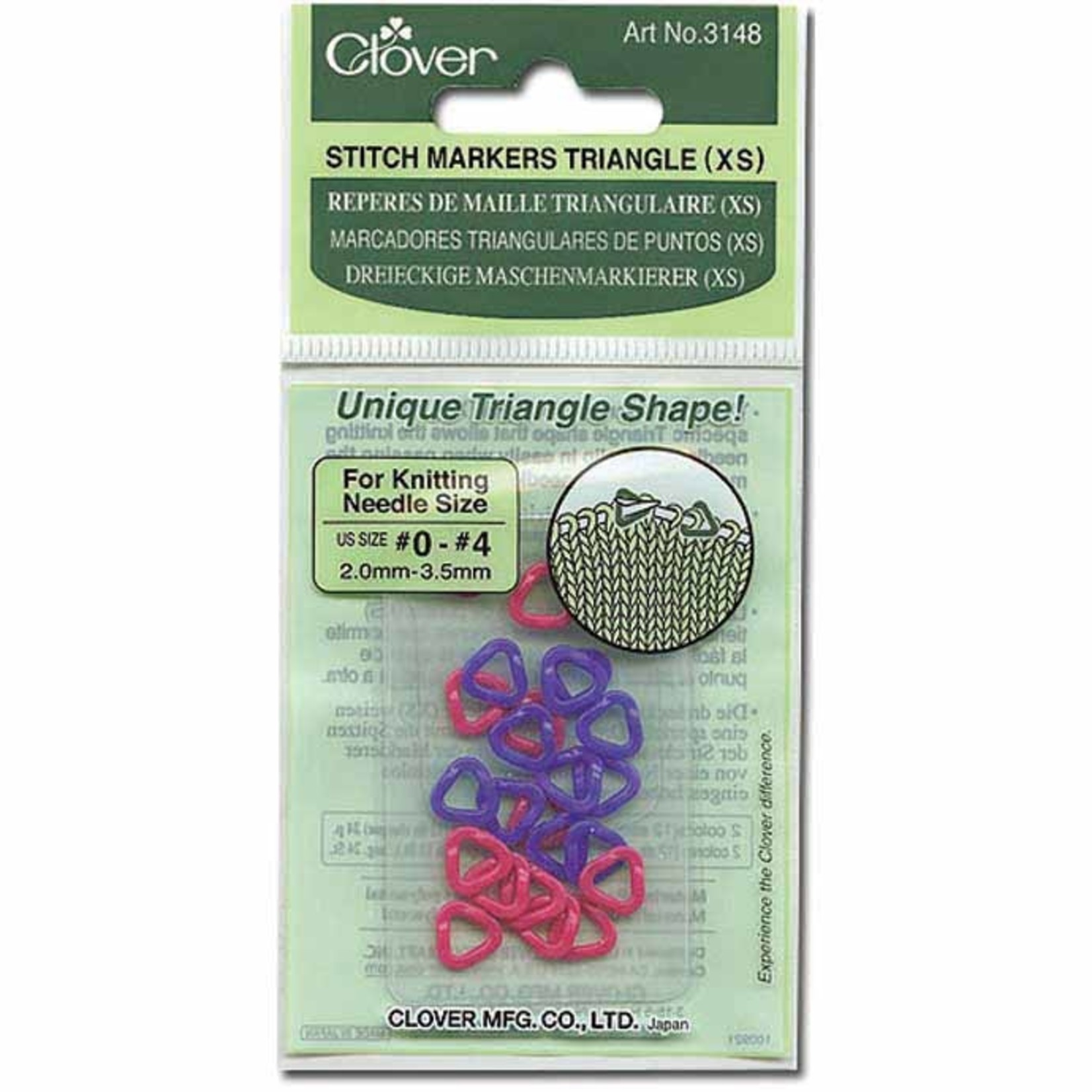 Clover Anneaux marqueurs en triangle XS (24pcs)