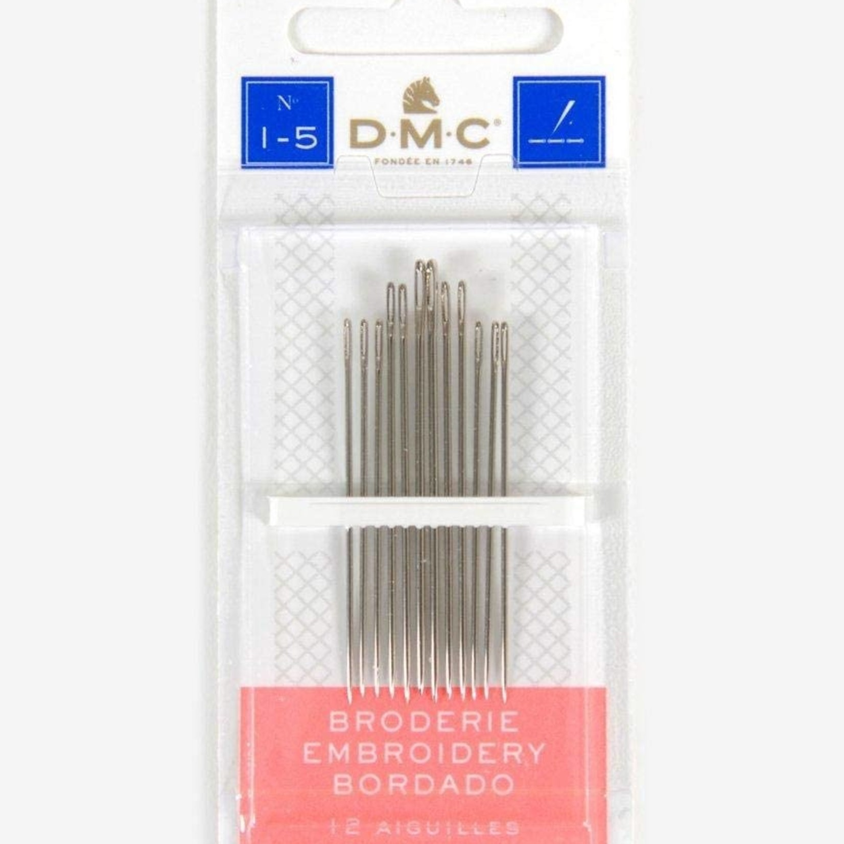 DMC Embroidery Needles (Sizes 3-9)
