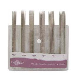 Knit Picks Knit Picks Nickel-Plated DPN 6'' Kit