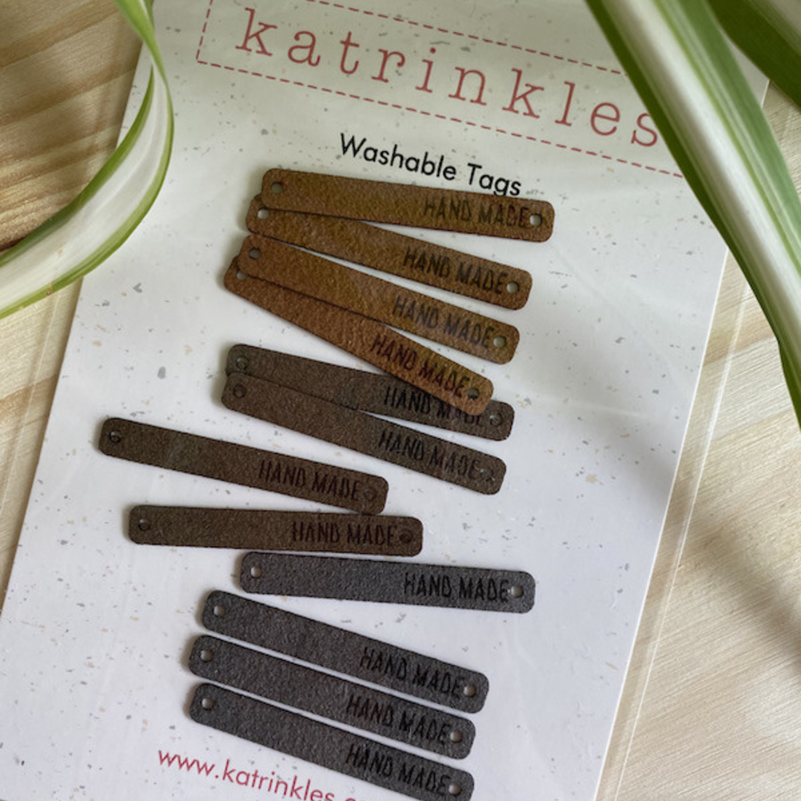 Katrinkles Foldover Hand Knit Tag
