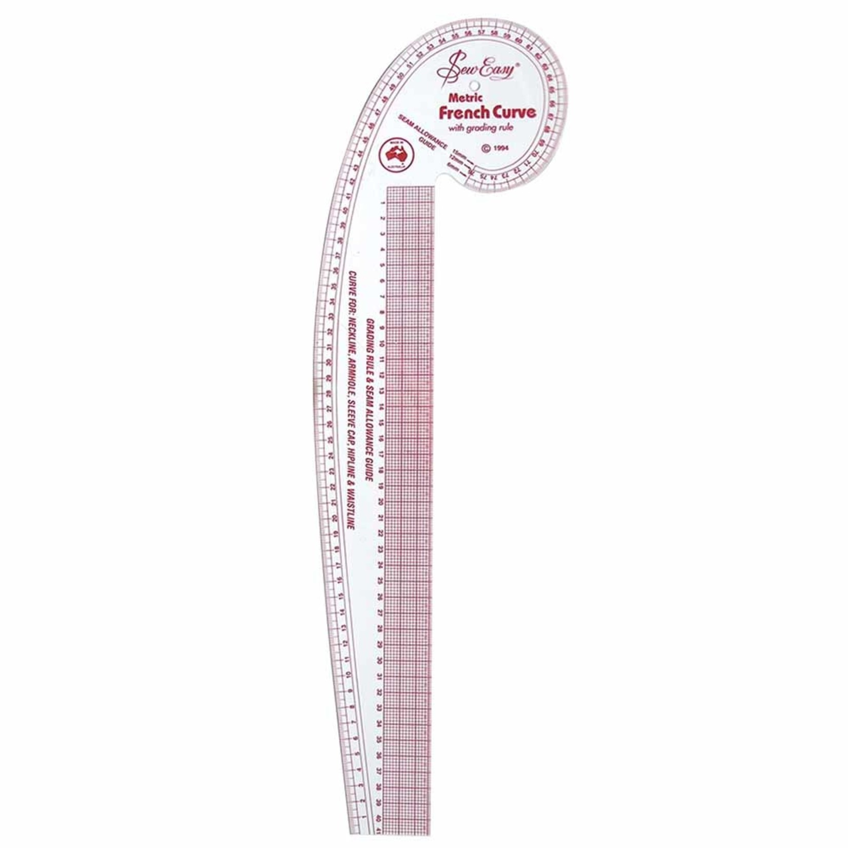 Sew Easy French Curved Ruler