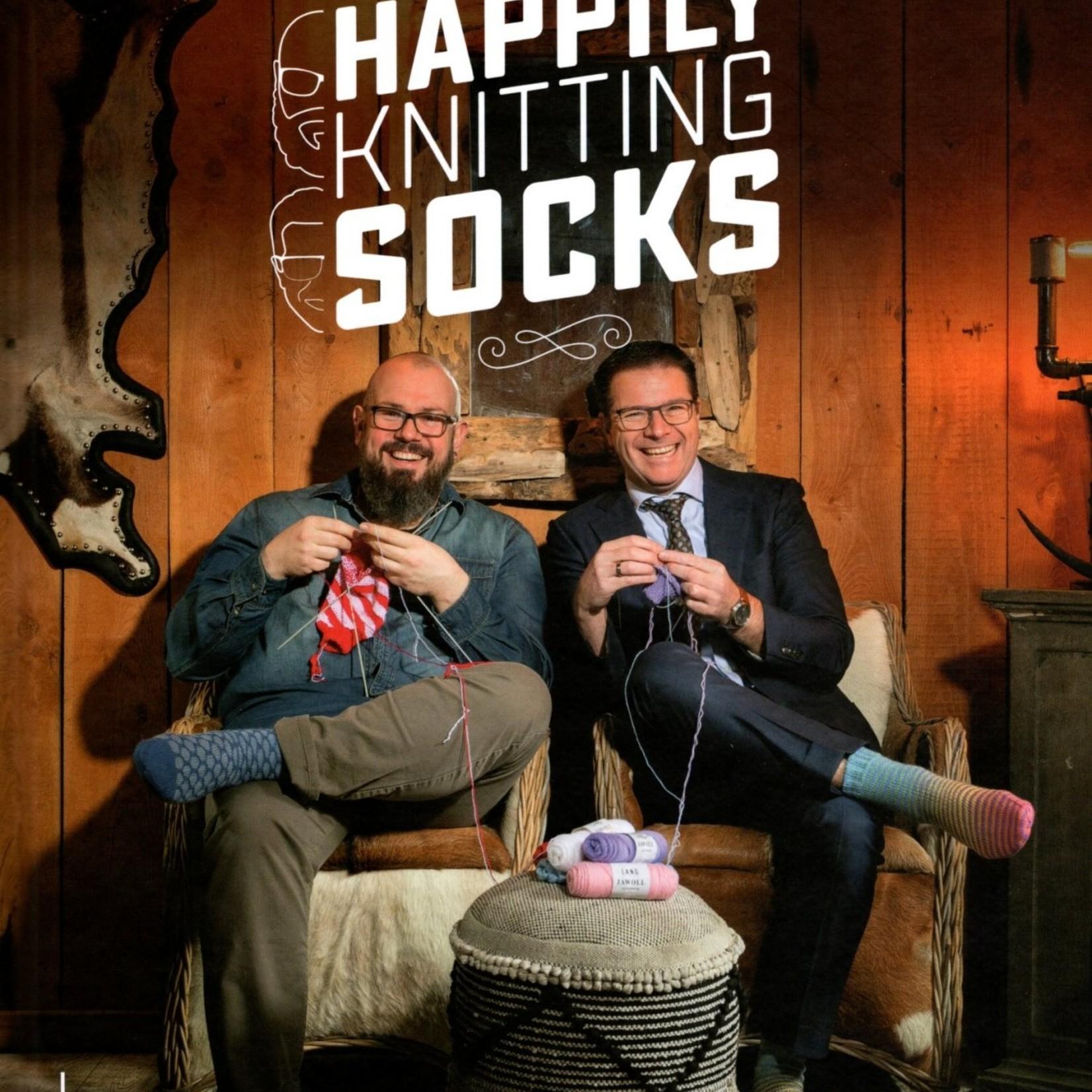 Happily Knitting Socks - Mr. Knitbear & Dendennis