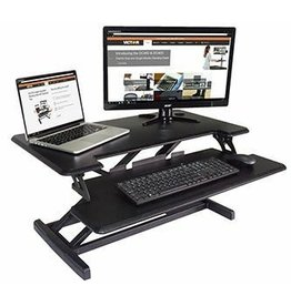 Victor Inst. Victor High Rise Height Adjustable Compact Standing Desk with Keyboard Tray