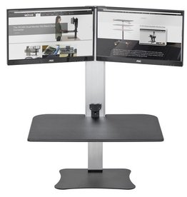 Victor Inst. Victor High Rise Electric Dual Monitor Standing Desk Workstation