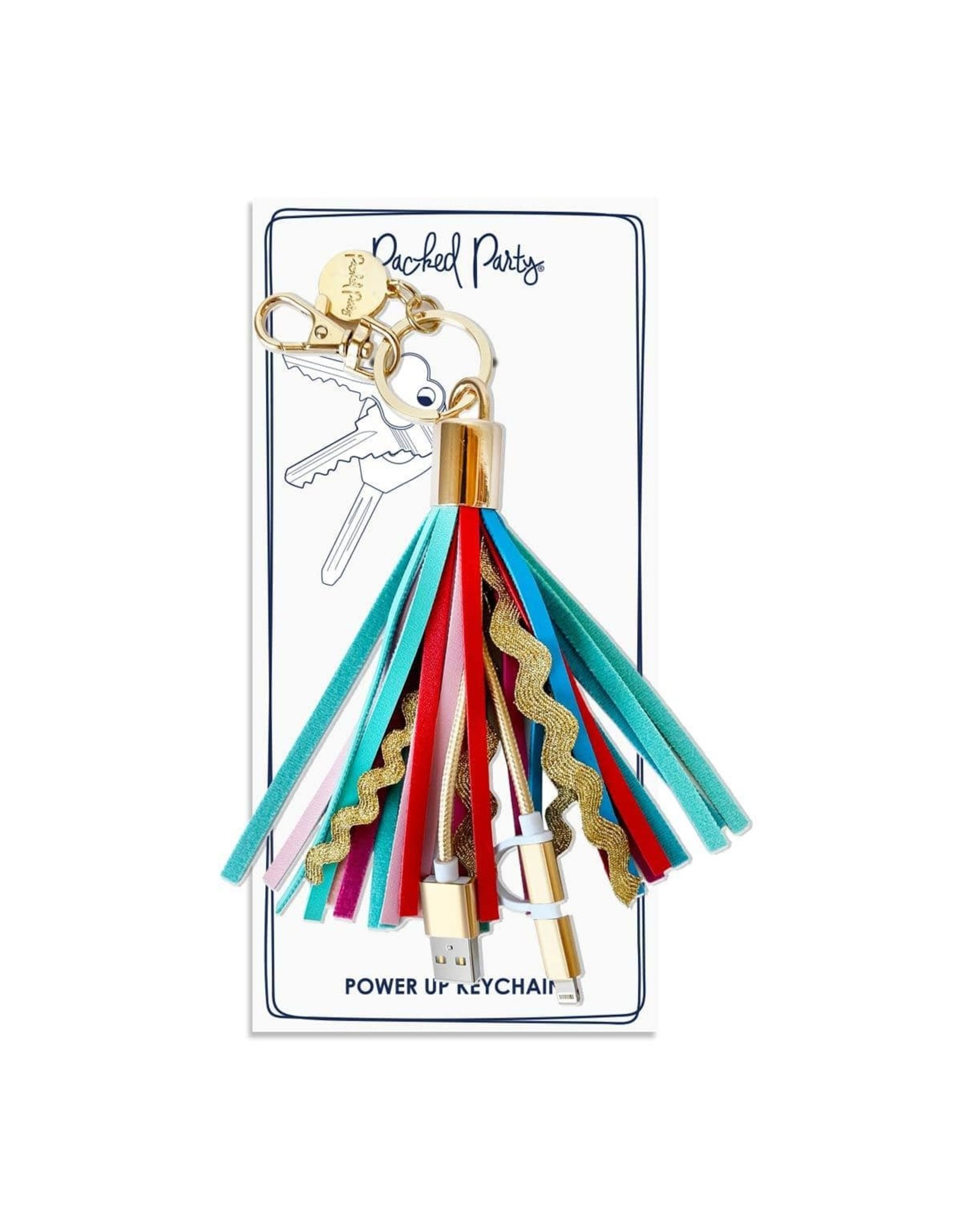 Packed Party Sweet treat tassel charging keychain
