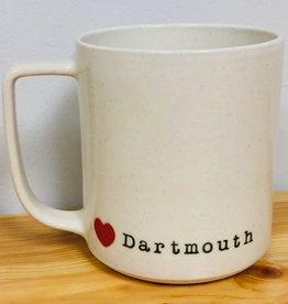 JAW Pottery Dartmouth Love Mug  - Red Heart