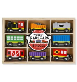 Melissa & Doug Wooden Train Car Set