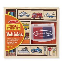 Melissa & Doug Wooden Stamp Set Vehicles