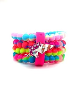 American Jewel AJ Cuff Rainbow Bracelet 4 Pack