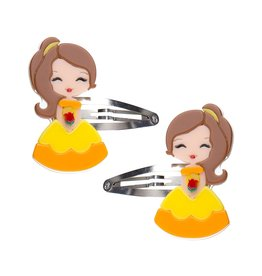 Lillies & Roses Hair Clip Cute Doll with Rose Snap
