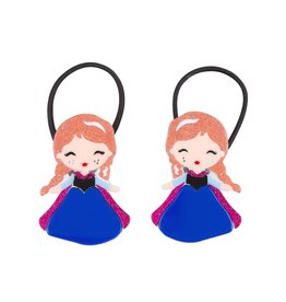 Lillies & Roses Ponytail Cute Doll with Freckles (blue dress)