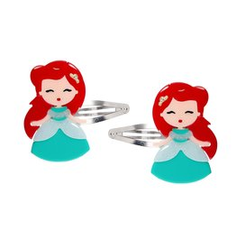 Lillies & Roses Hair Clip Cute Doll with Red Hair Snap