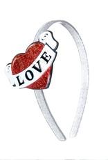 Lillies & Roses Headband Vintage Heart