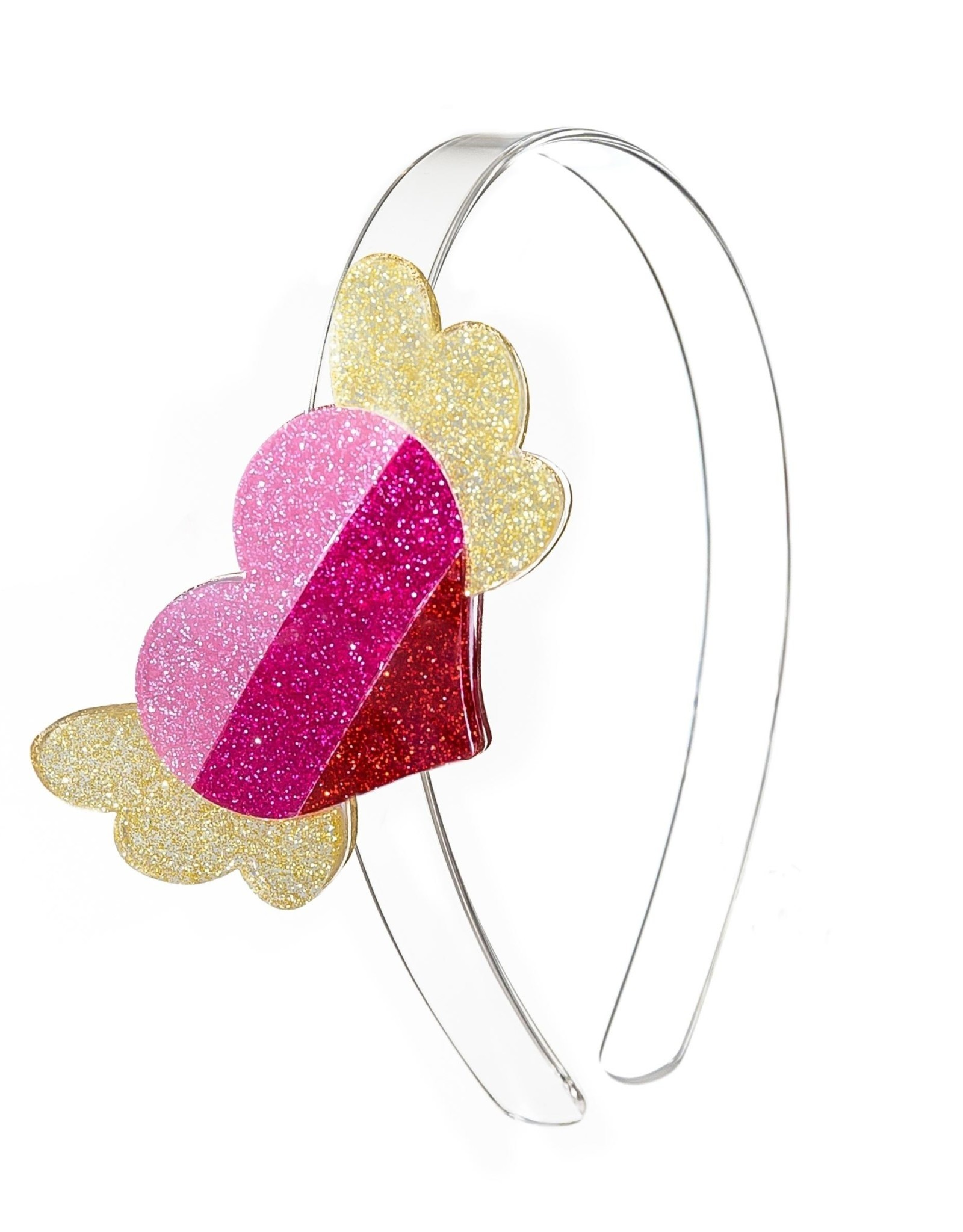 Lillies & Roses Headband Winged Heart