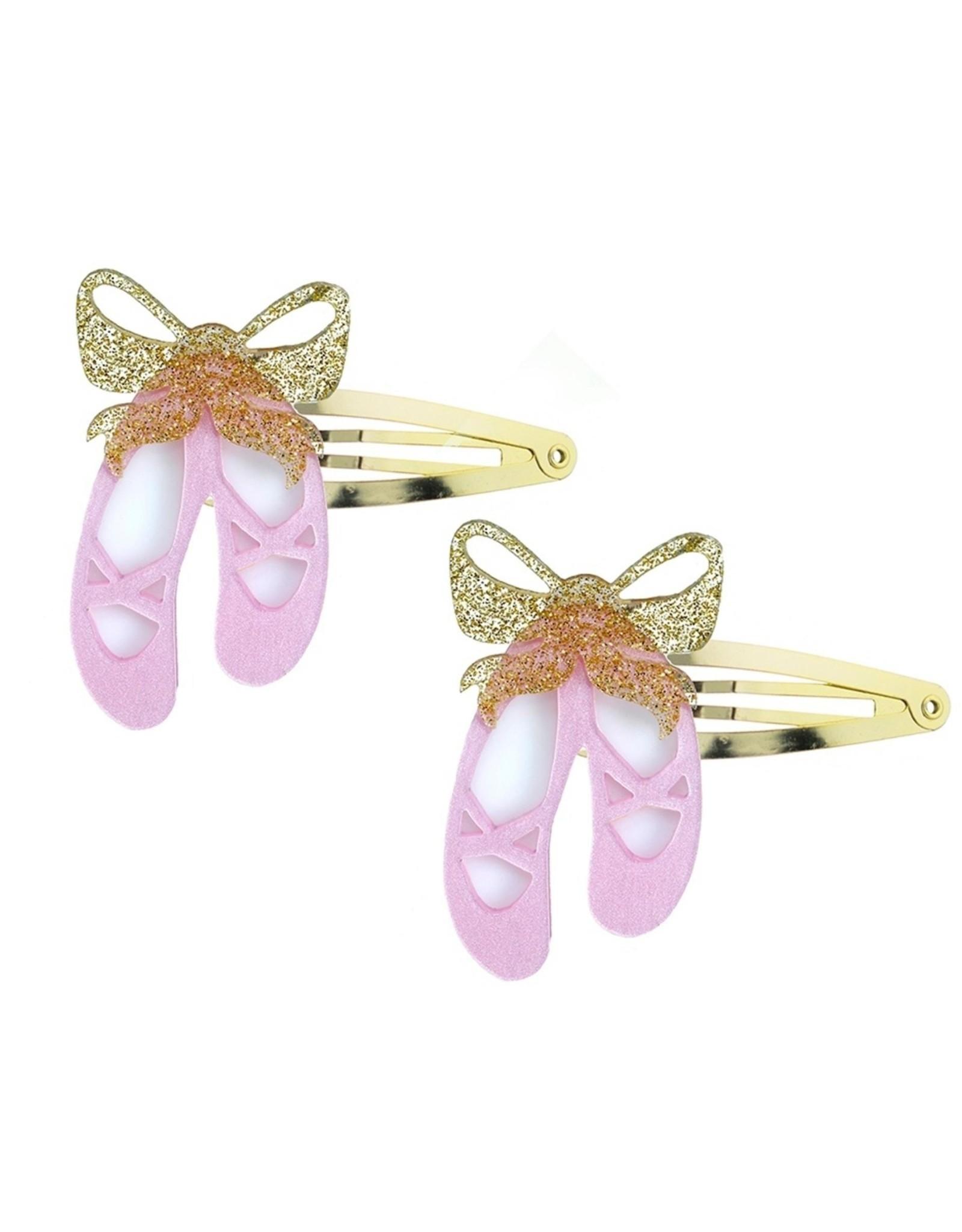 Lillies & Roses Hair Clip Ballet Slipper Snap