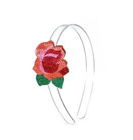 Lillies & Roses Headband Red Rose