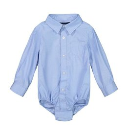 Andy and Evan Industries Blue Chambre Button-Down